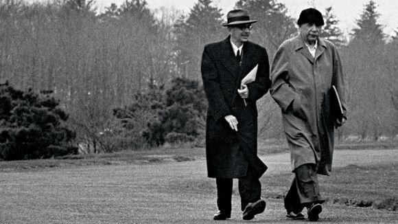 Kurt Godel et Albert Einstein